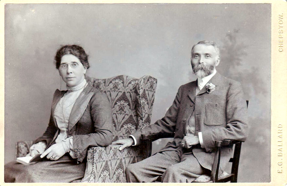 Joseph and Mary  at their Silver Wedding in 1903