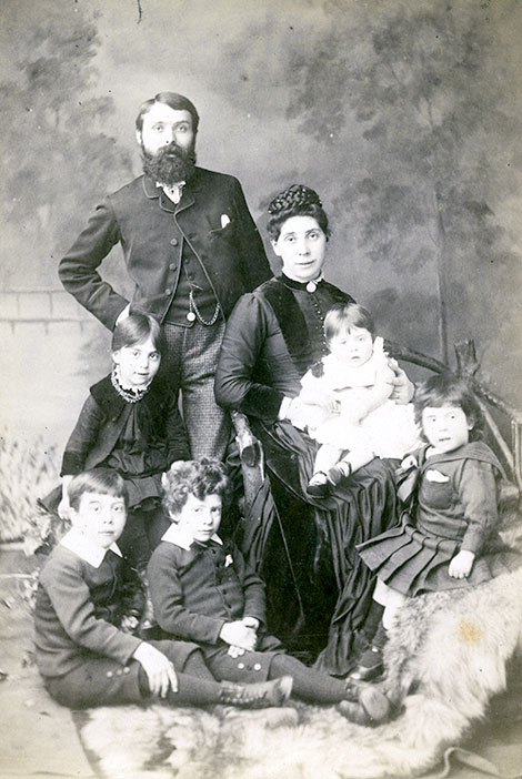 Joseph and Mary as a young couple with their first children