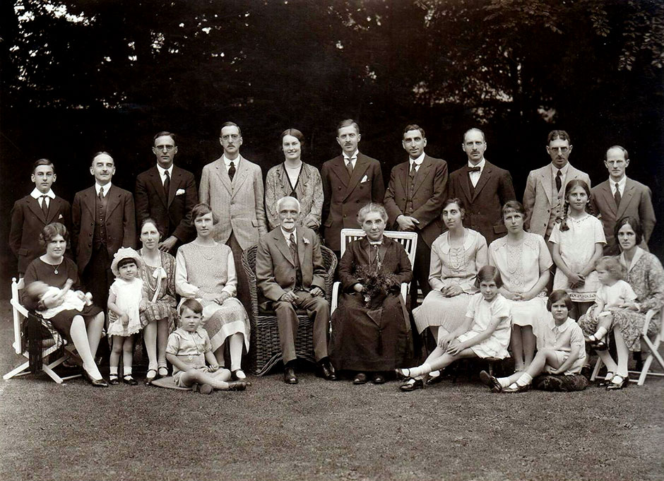 A large family gathering at Chepstow in 1928, the year before Joseph died
