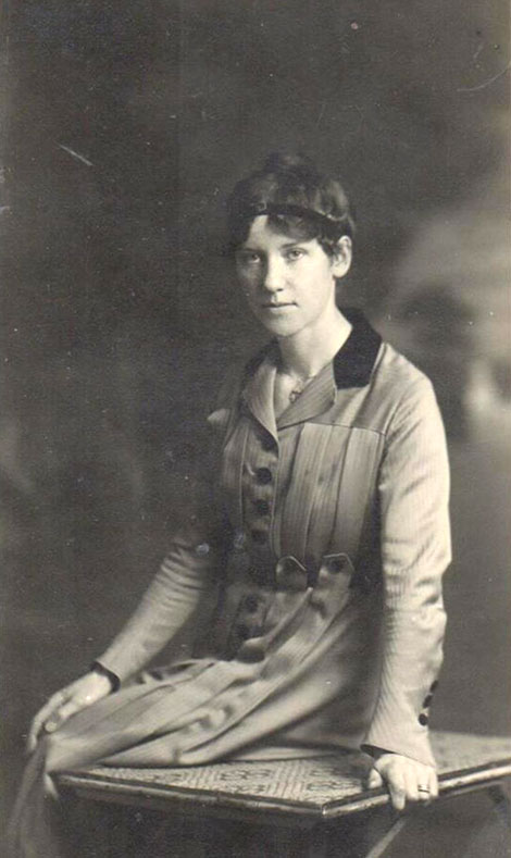 Dorothy Child (1887-1974), Graham's wife.  This photo was taken in Marseilles in April 1918.