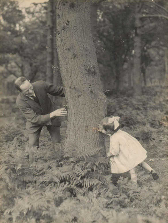 Helen with her father in the forest of Dean in 1924