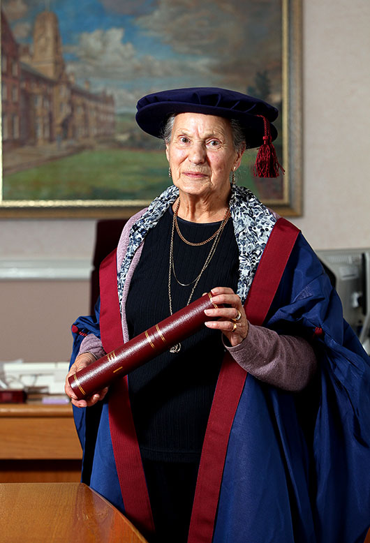 Helen received an Honorary Fellowship from the University in 2010(Photo by courtesy of the University of South Wales)