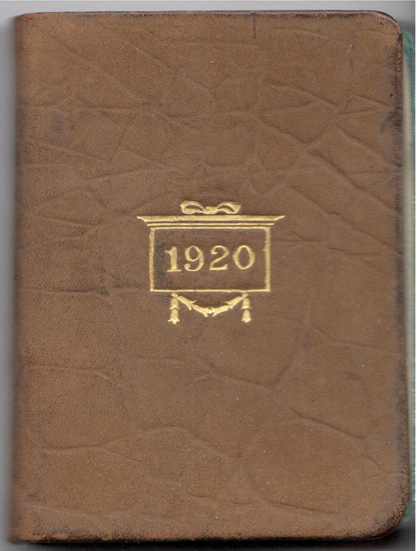 The cover of the diary