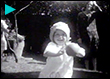 The Barton family - At home in the garden, Cinderford, Gloucestershire with Grandma Barton
